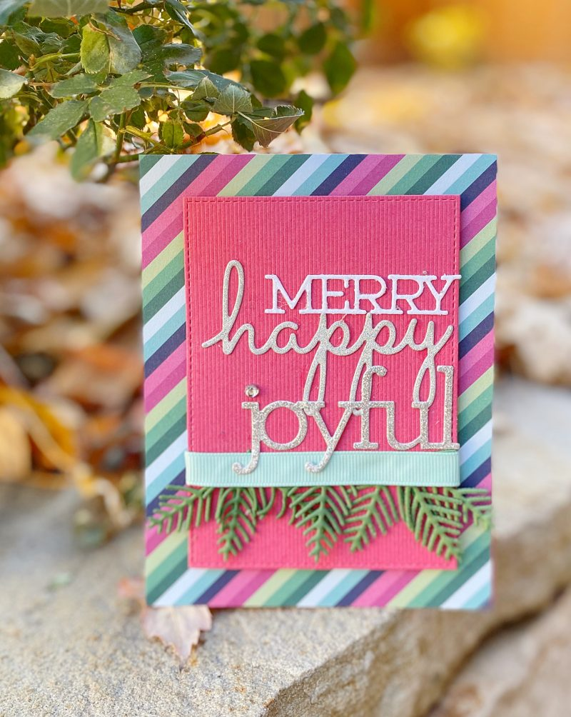 Merry Happy Joyful card by Susan R. Opel for Scrapbook & Cards Today