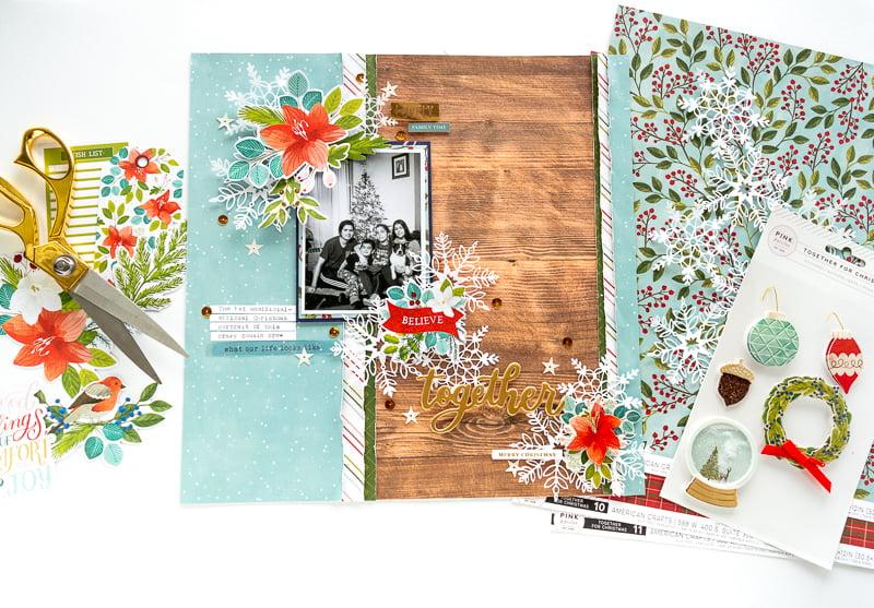 NATHALIE DESOUSA for SCRAPBOOK & CARDS TODAY MAGAZINE_TOGETHER_PINK PAISLEE