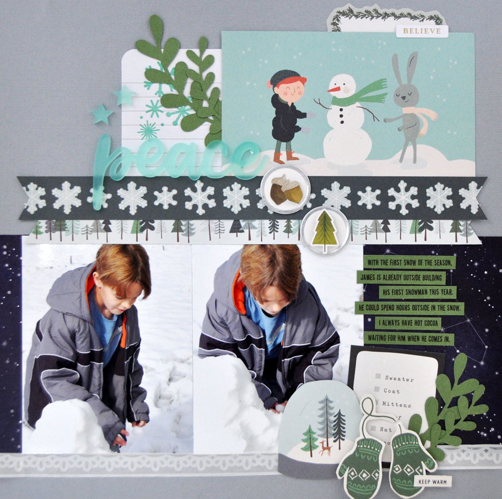 SCT Delivered Kit - Winter 2019 - Let It Snow - Layout by Jen Gallacher