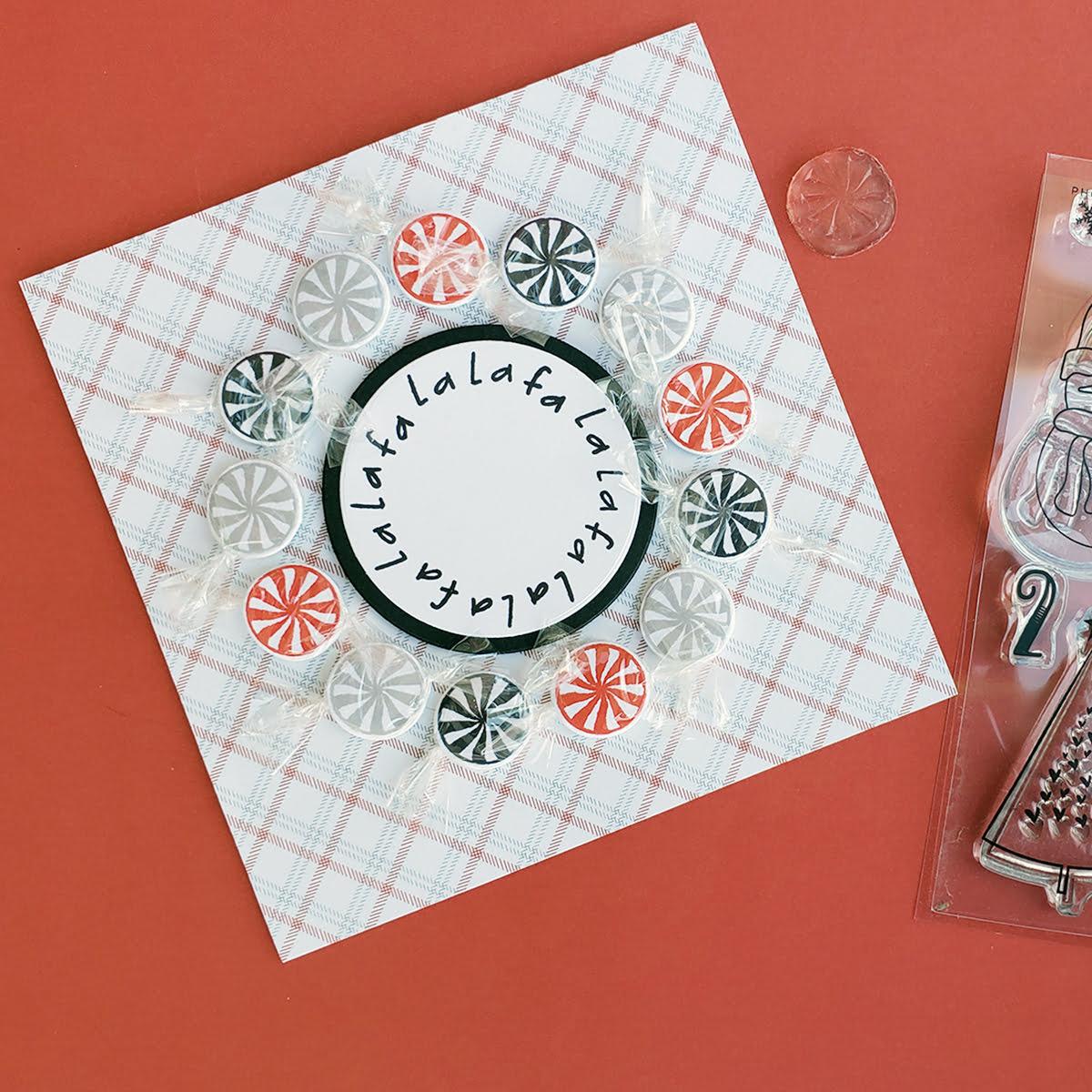 Fa La La card - Photo Play Paper - Kringle & Co