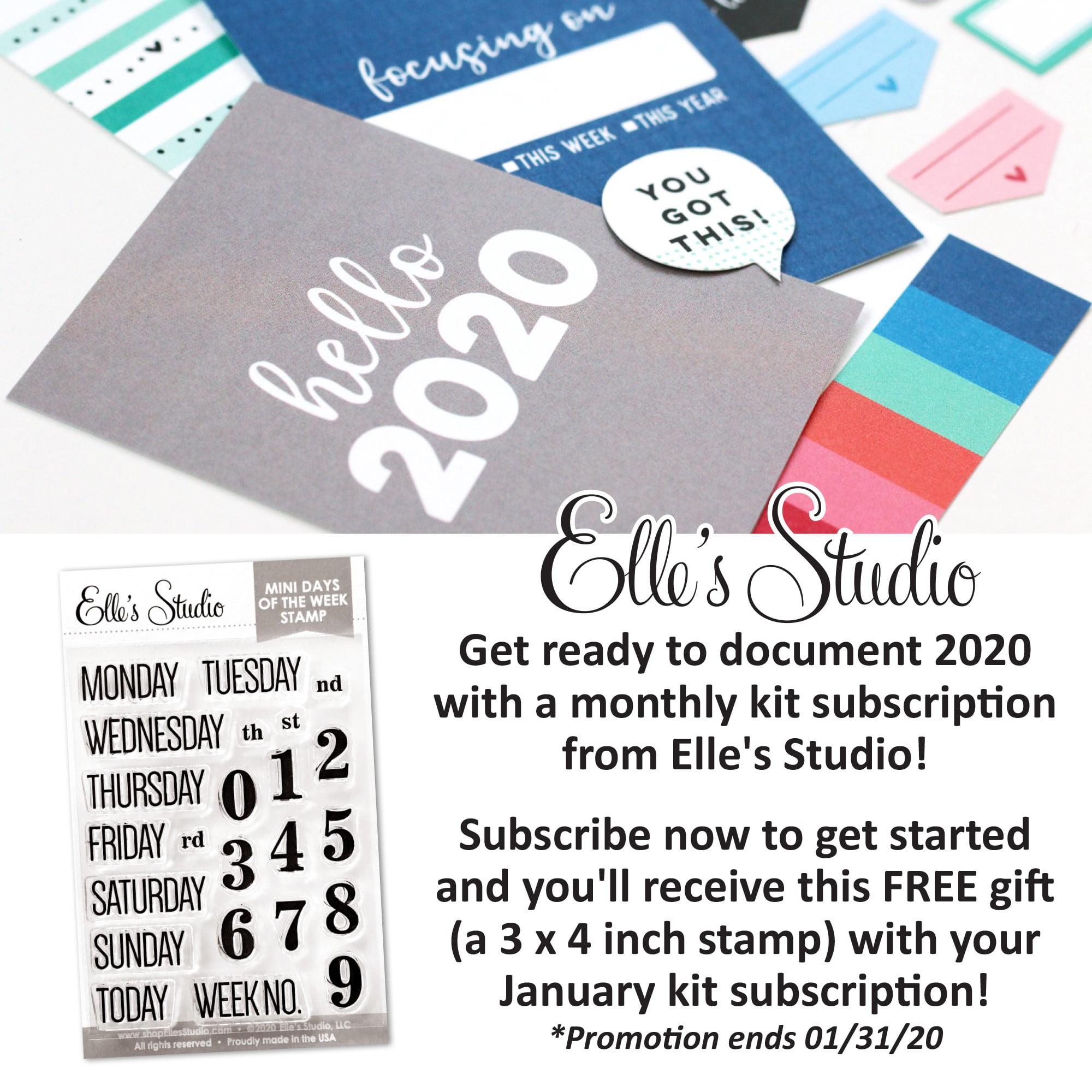 SCT Sampler - January 2020 - Elle's Studio Promotion