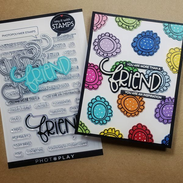 Photo Play Paper friend stamp and die