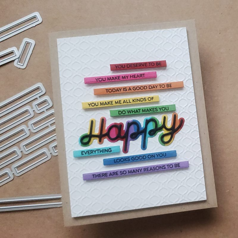 Photo Play Paper sentiment strip dies