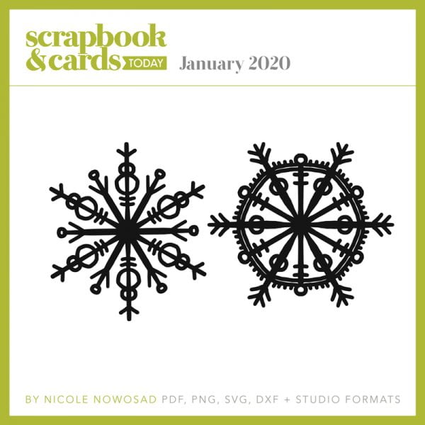Scrapbook & Cards Today magazine - January 2020 Free Cut File