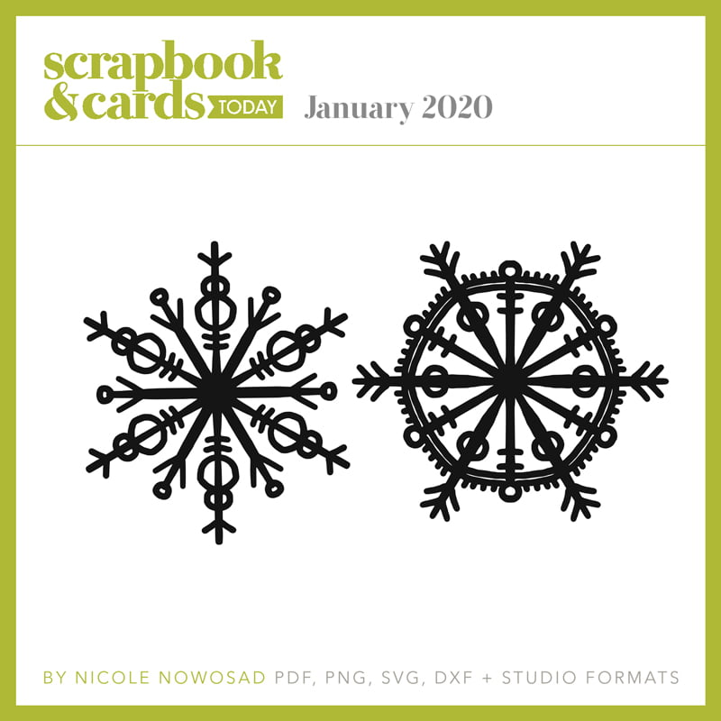 Scrapbook & Cards Today magazine - January 2020 Free Cut File