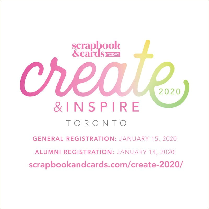 Create & Inspire 2020 - Registration Dates