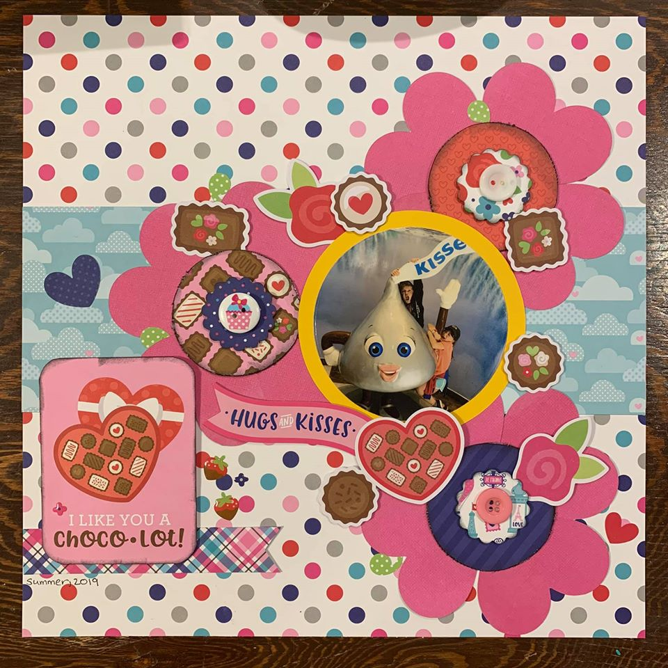 February Layout by Angela Lunn