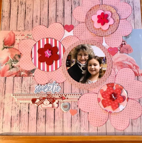 February Layout by CJ Johnson