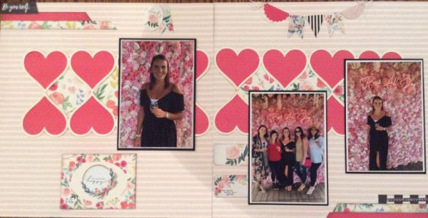 February Layout by Lynn Walker
