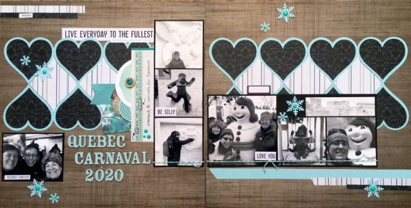 February Layout by Nicole Genge