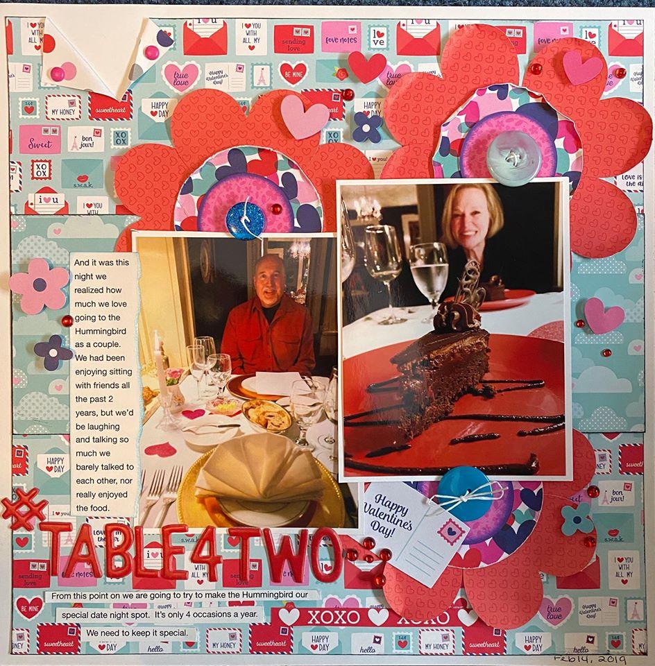 February Layout by Patti Wnek