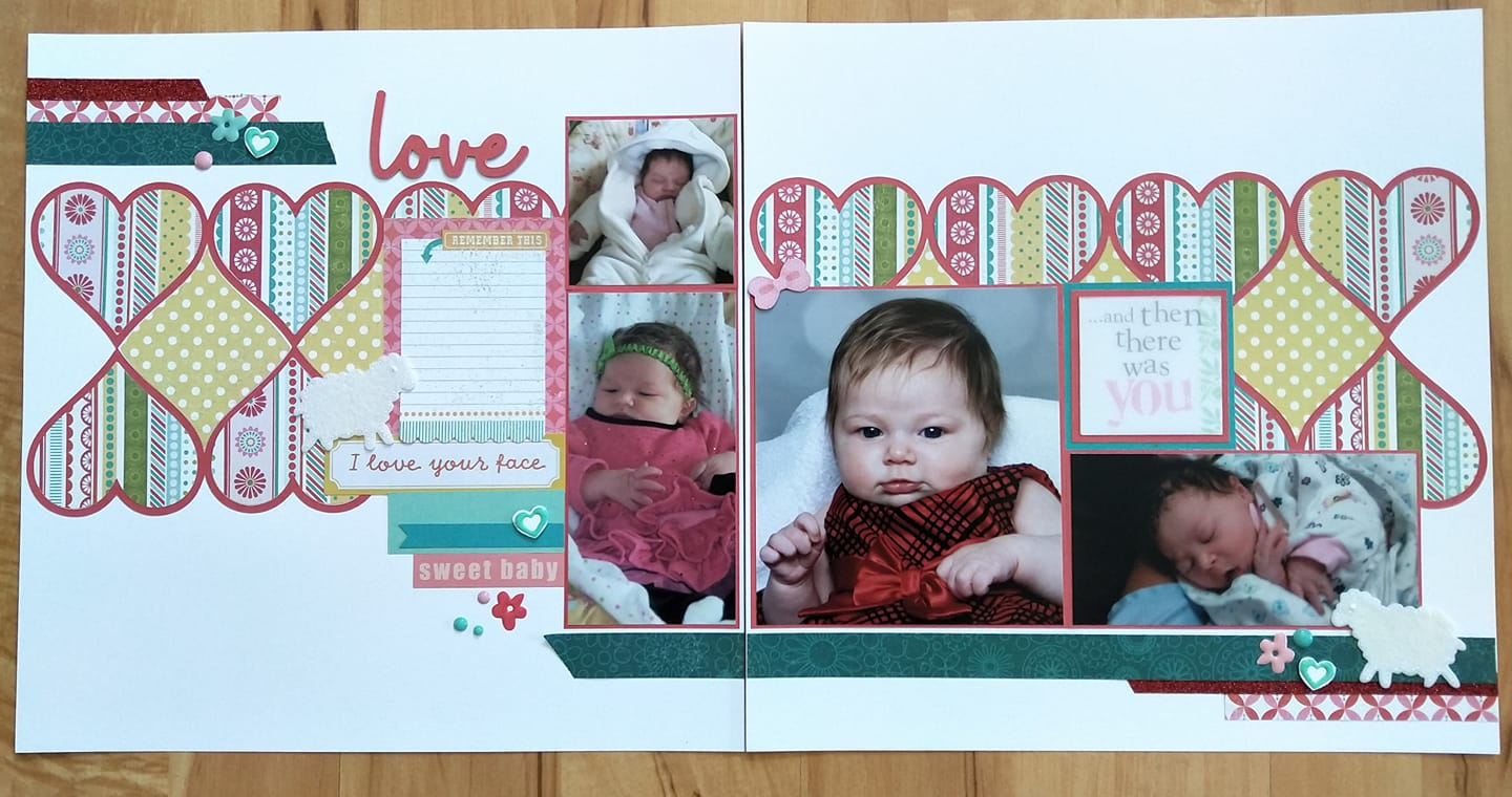 February Layout by Rosalynd Kelly