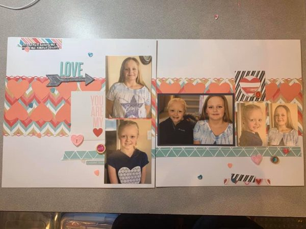 February Layout by Sonya Plowman