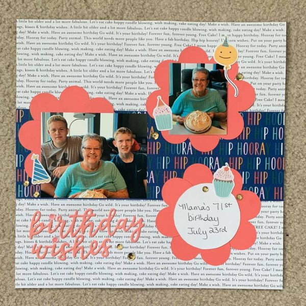 February Layout by Sue Moody