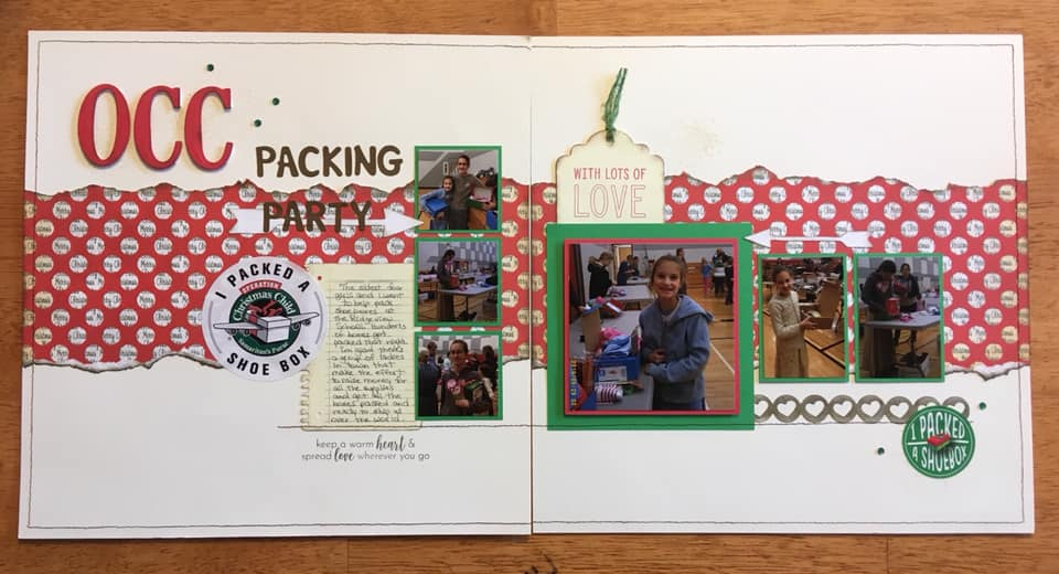 February Layout by Susan Wolfe