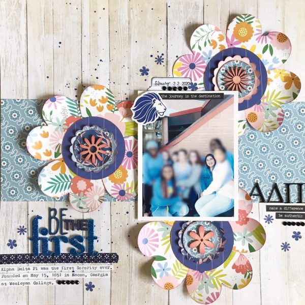 February Layout by Valerie Bisson
