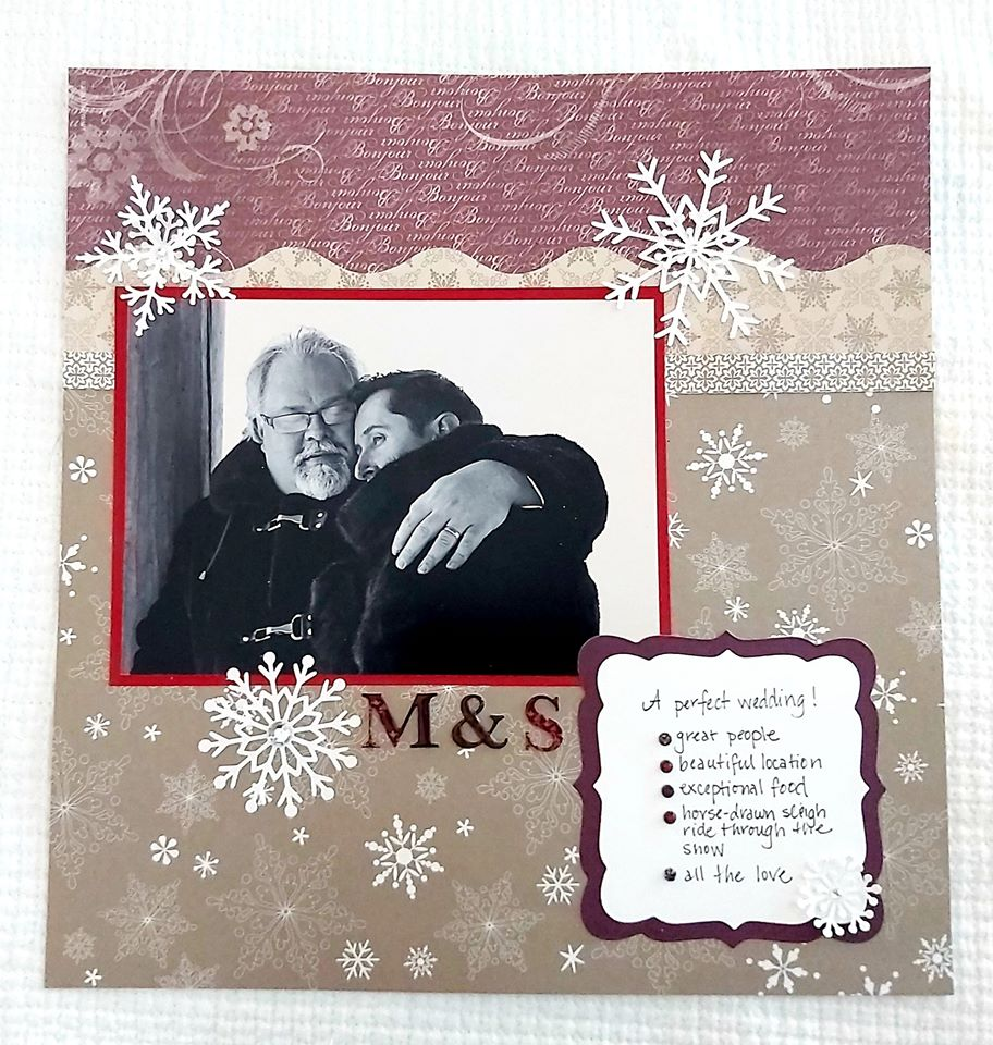 January Layout by Beth Anne Thomas