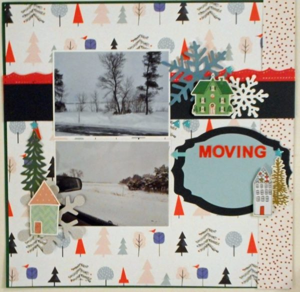 January Layout by Cindy Foster