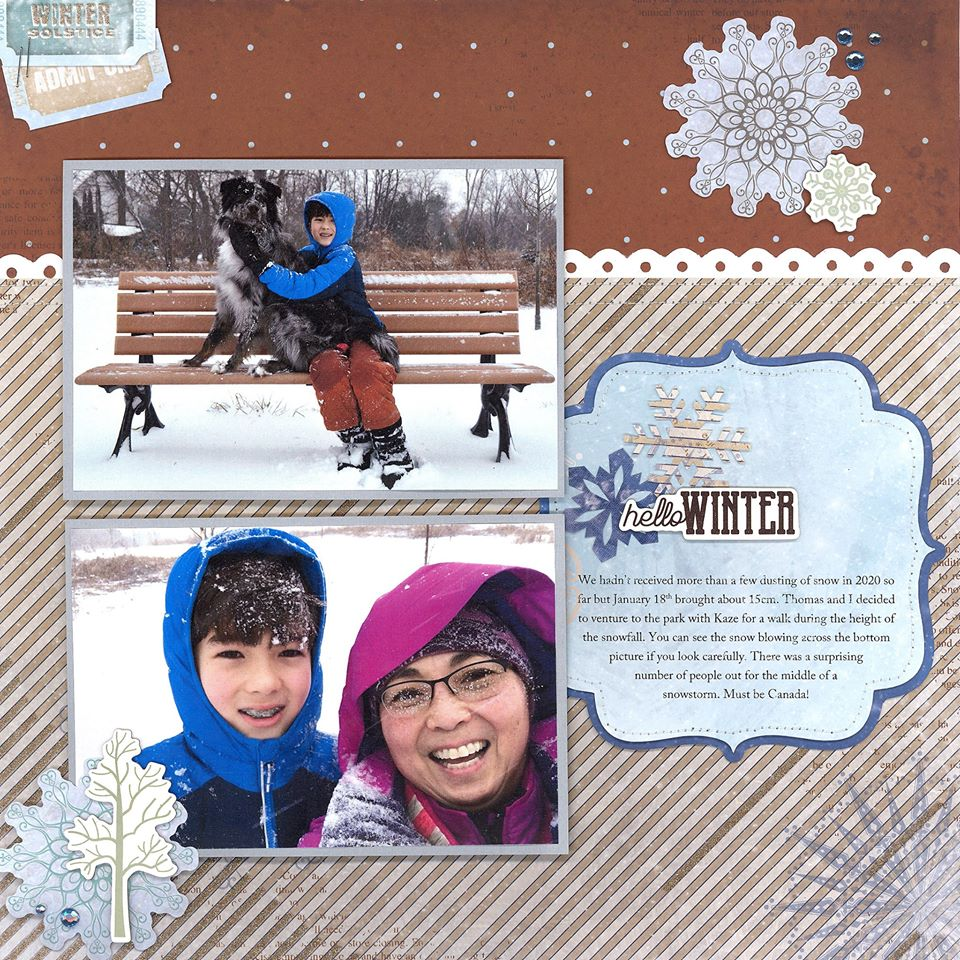 January Layout by Dawn Brittain