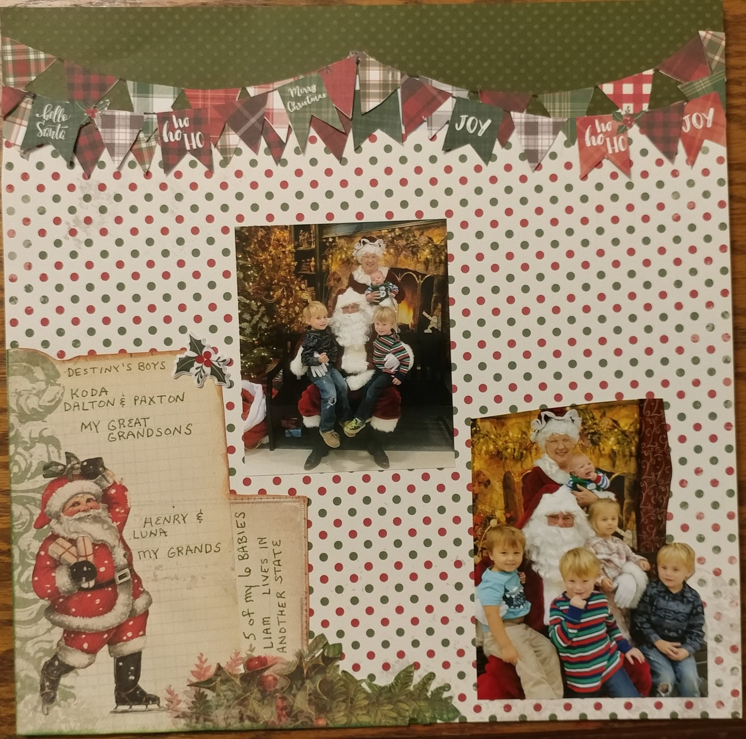 January Layout by Eva Walker
