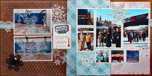 January Layout by Gail Dowler