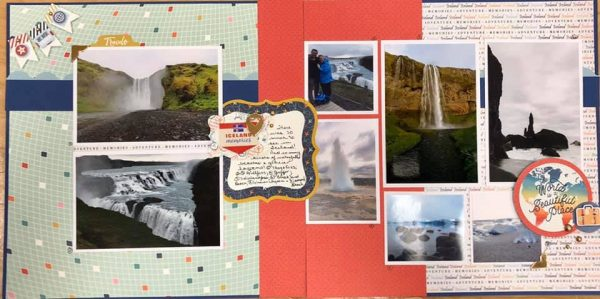 January Layout by Jacqueline Isenor Green