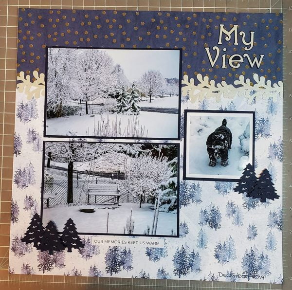 January Layout by Joni Allard