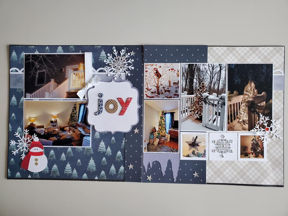January Layout by Kathy Mazzone