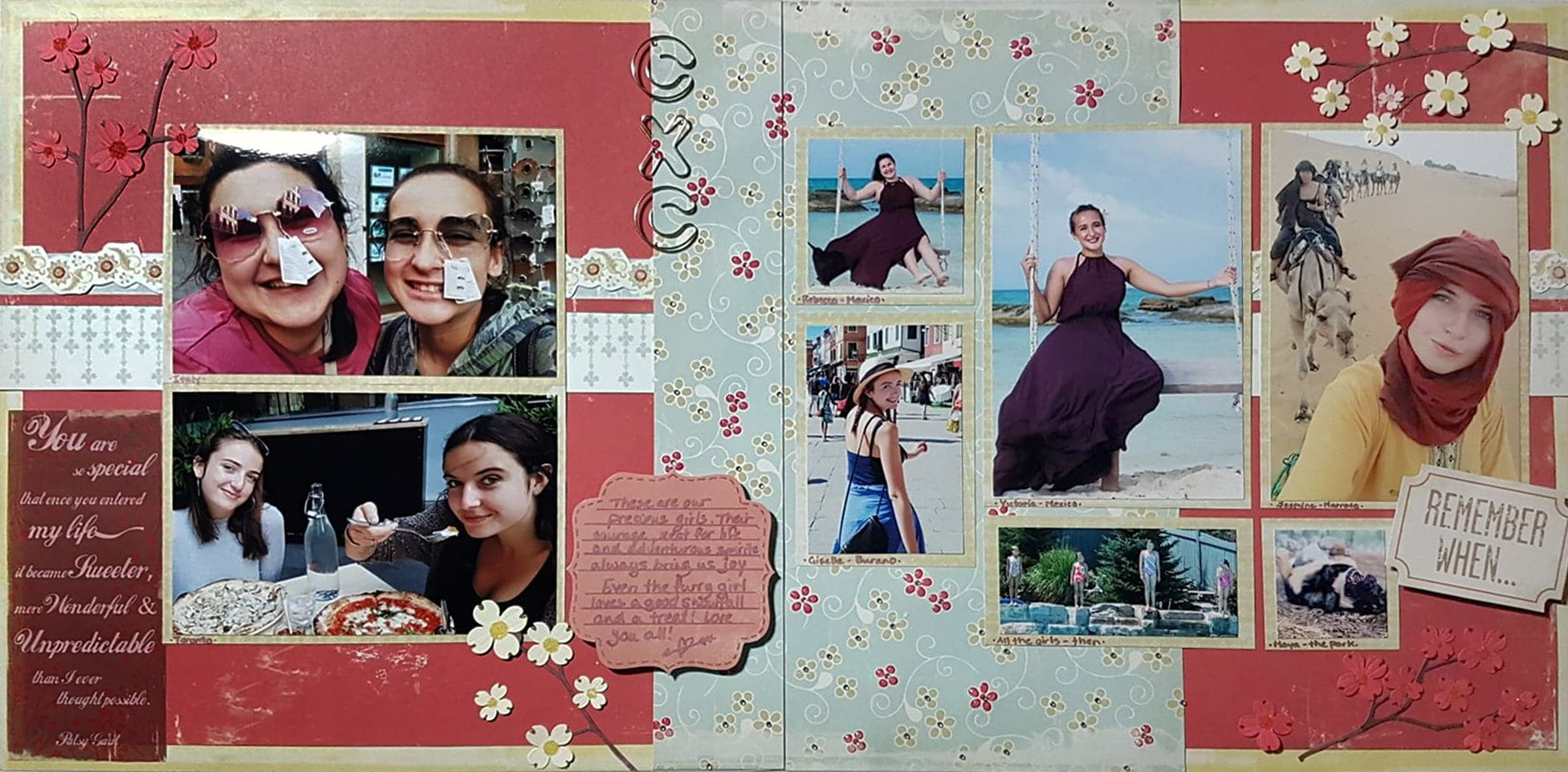 January Layout by Kristen Goberis
