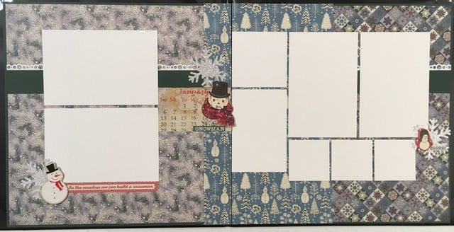 January Layout by Lynn Cariker