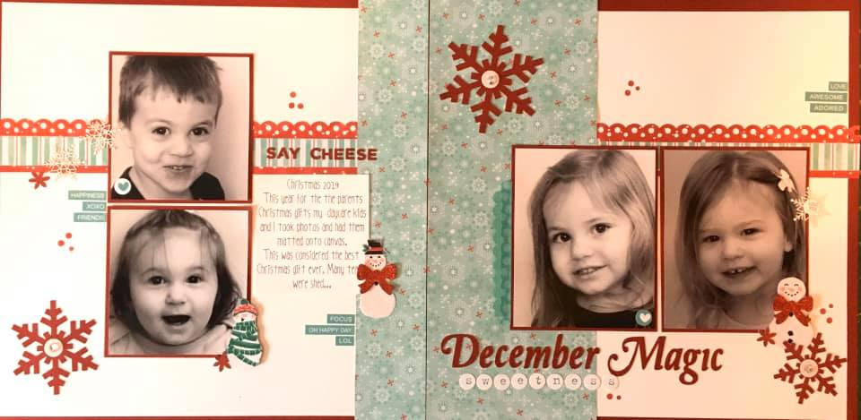January Layout by Nicole Genge