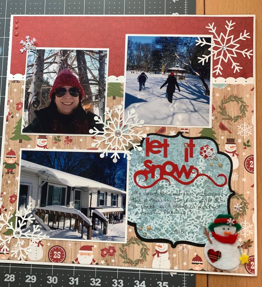 January Layout by Pamela Sabori