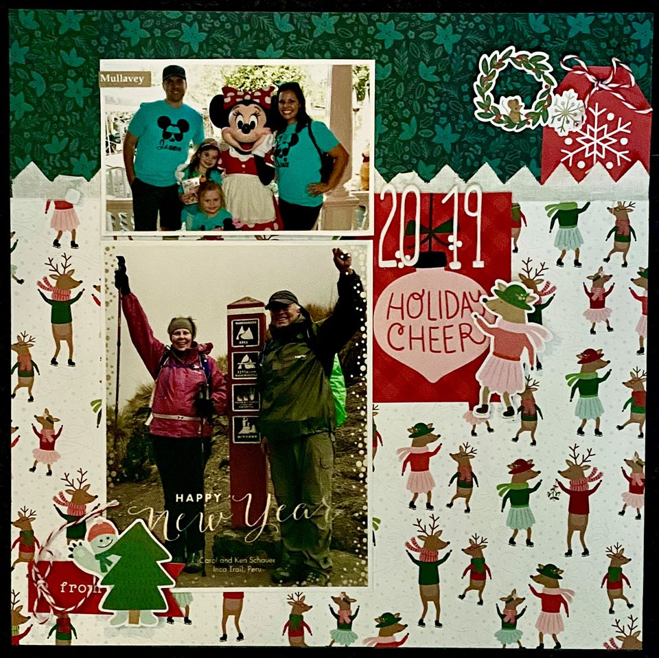 January Layout by Patti Wnek
