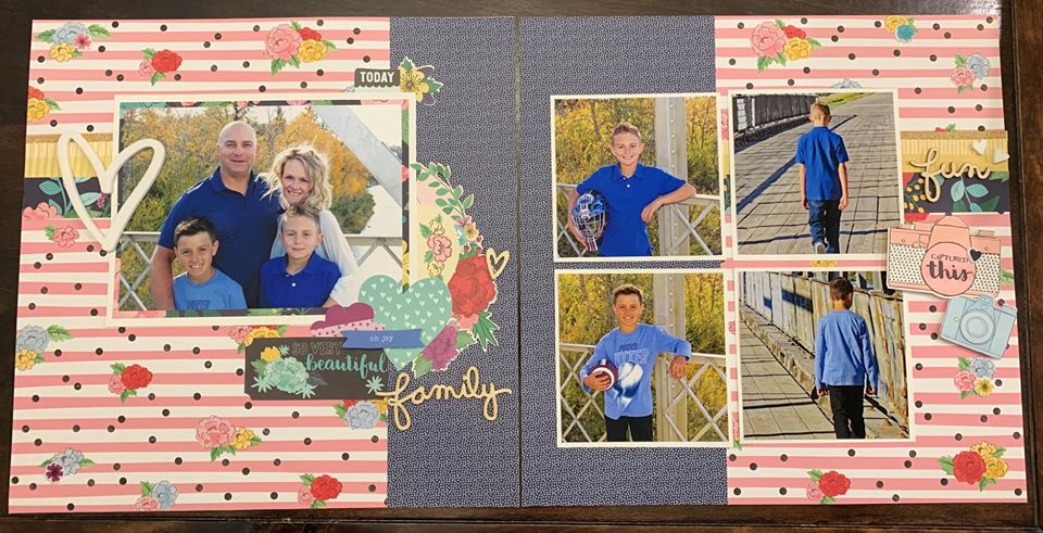 January Layout by Shar Thomson