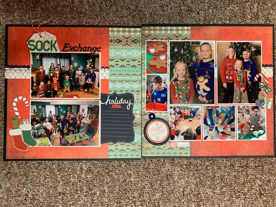 January Layout by Sonya Plowman