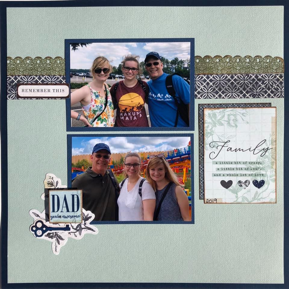 January Layout by Susan Ott