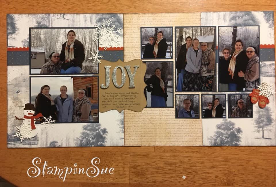 January Layout by Susan Wolfe