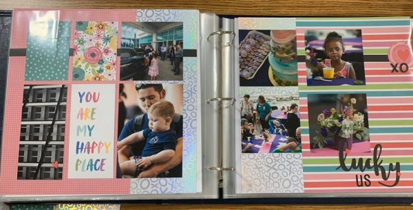 January Layout by Tessie Boudreau