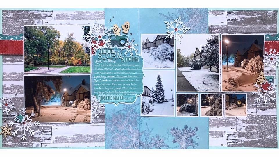 January Layout by Valerie Bisson
