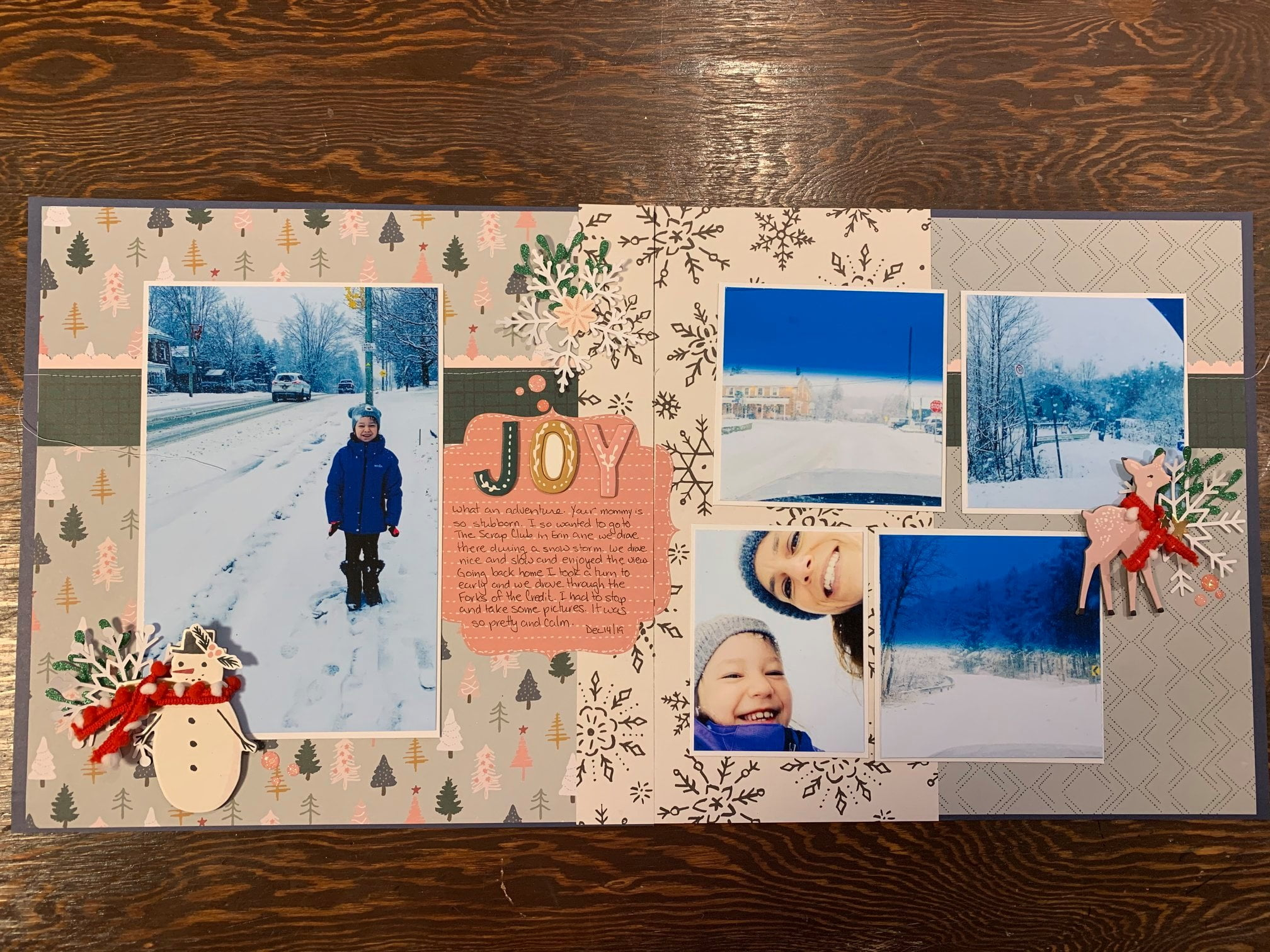 January layout by Angela Lunn
