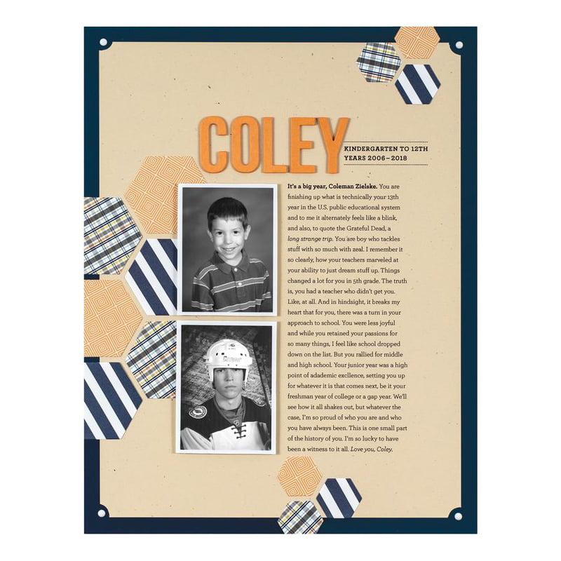 SCT-Magazine-Cathy-Zielske-Coley-scrapbook-layout-Summer-2018-issue