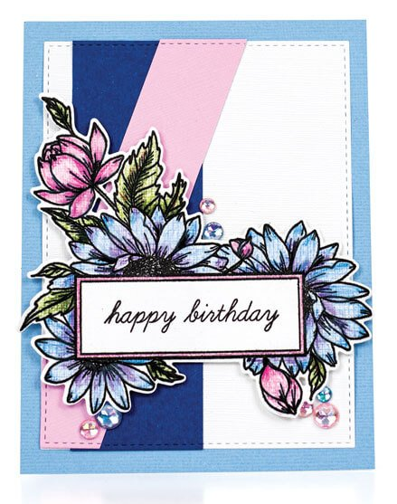 Scrapbook & Cards Today - Spring 2020 - Happy Birthday card by Susan R. Opel