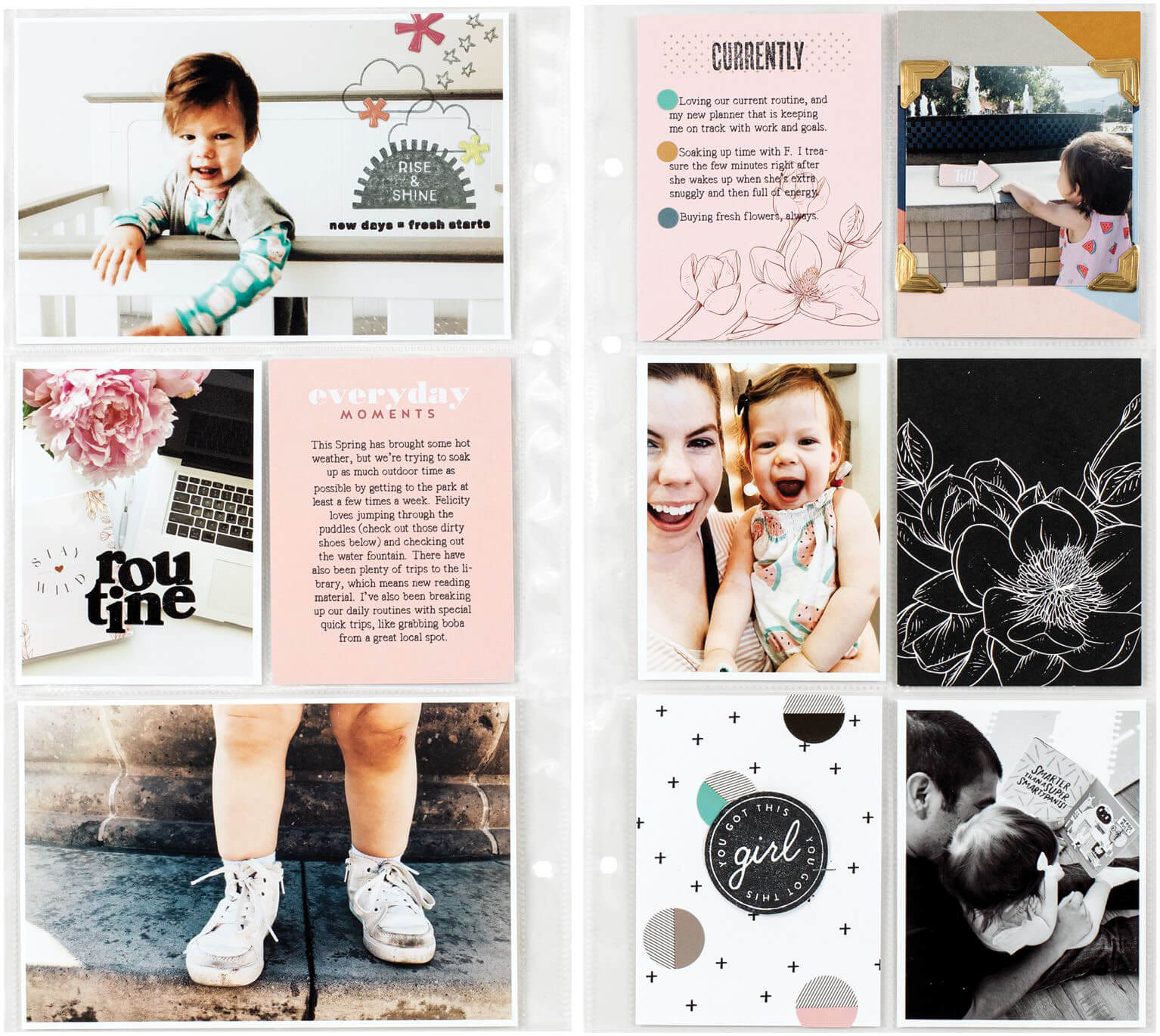 Scrapbook & Cards Today - Spring 2020 - Routine pocket page by Sarah Zayas