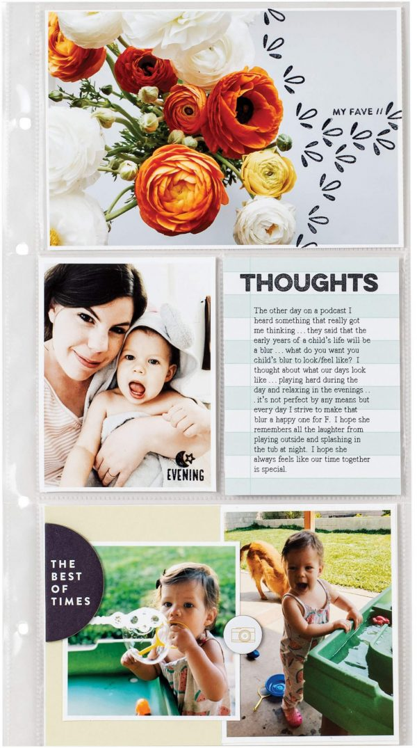 Scrapbook & Cards Today - Spring 2020 - Thoughts pocket page by Sarah Zayas