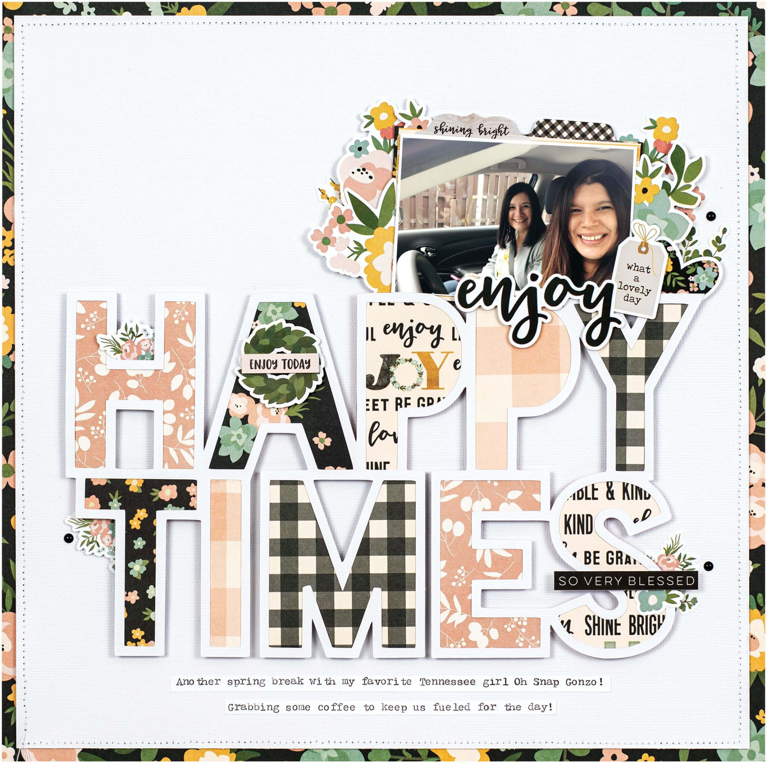 Scrapbook & Cards Today - Spring 2020 - Happy Times layout by Erica Thompson