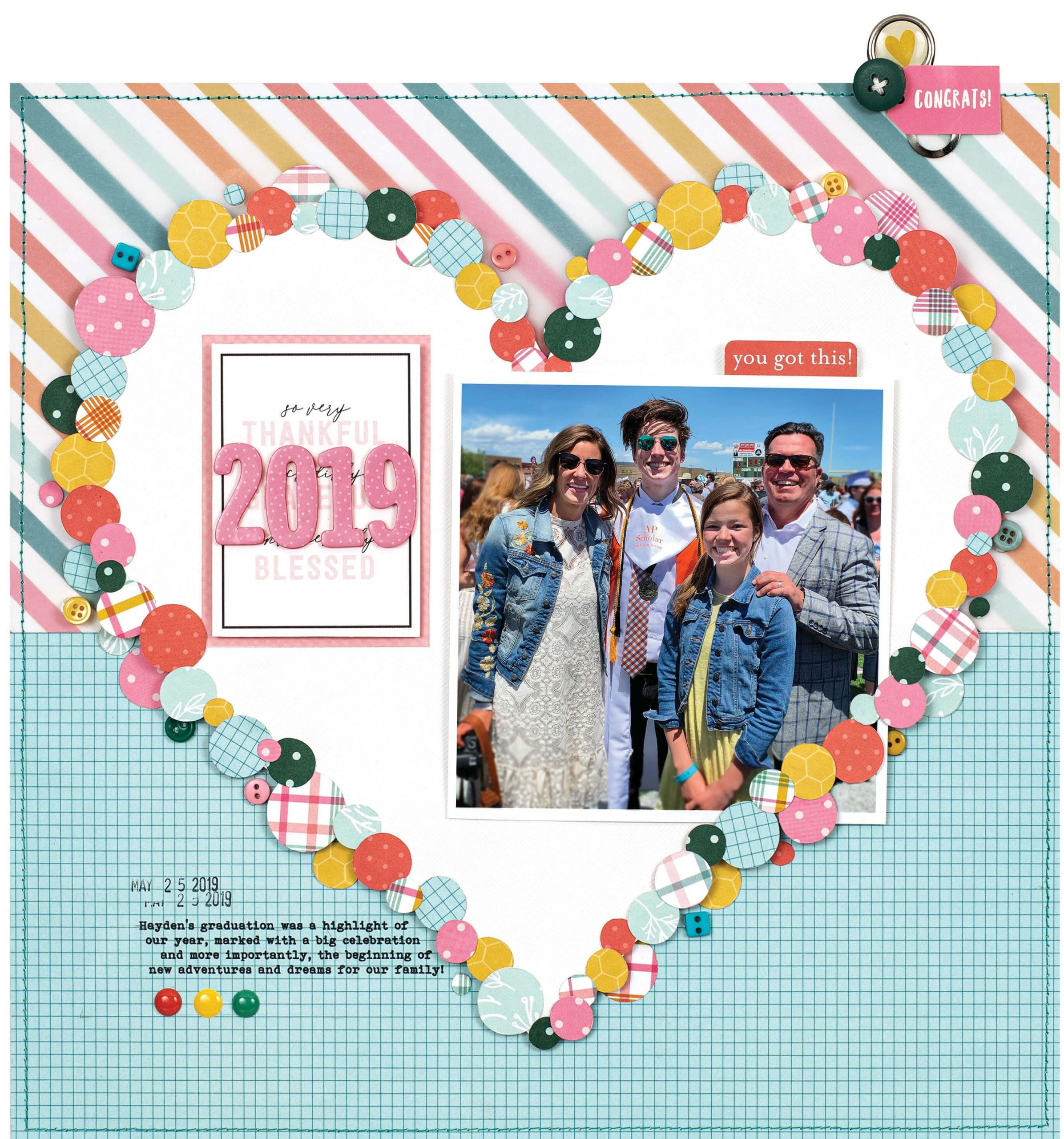 Scrapbook & Cards Today - Spring 2020 - 2019 layout by Lisa Dickinson