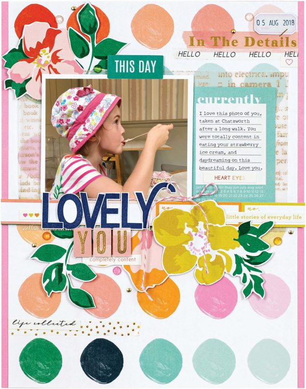 Scrapbook & Cards Today - Spring 2020 - Lovely You layout by Meghann Andrew