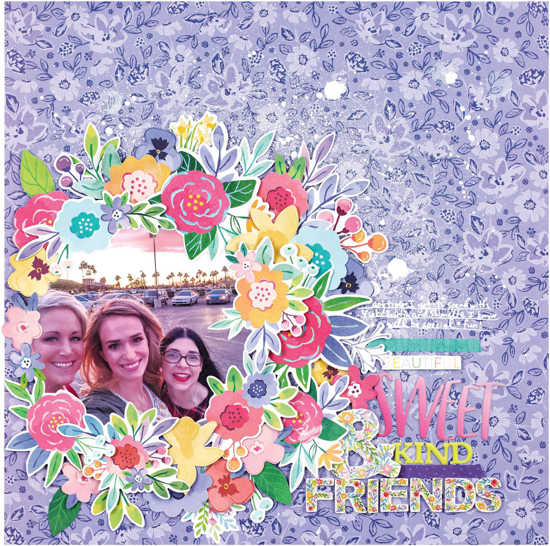 Scrapbook & Cards Today - Spring 2020 - Beautiful Sweet & Kinds Friends layout by Paige Evans