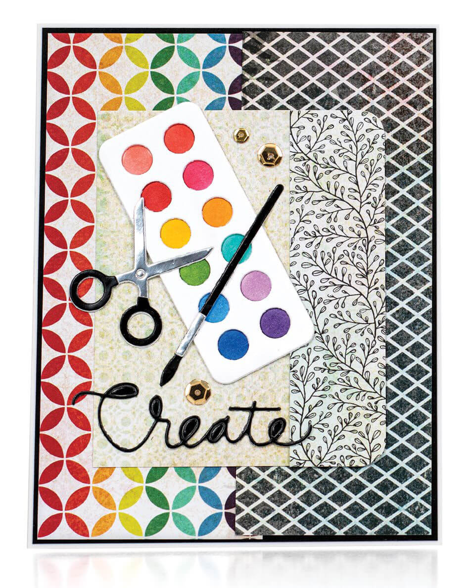 Scrapbook & Cards Today - Spring 2020 - Create card by Jeanne Jachna