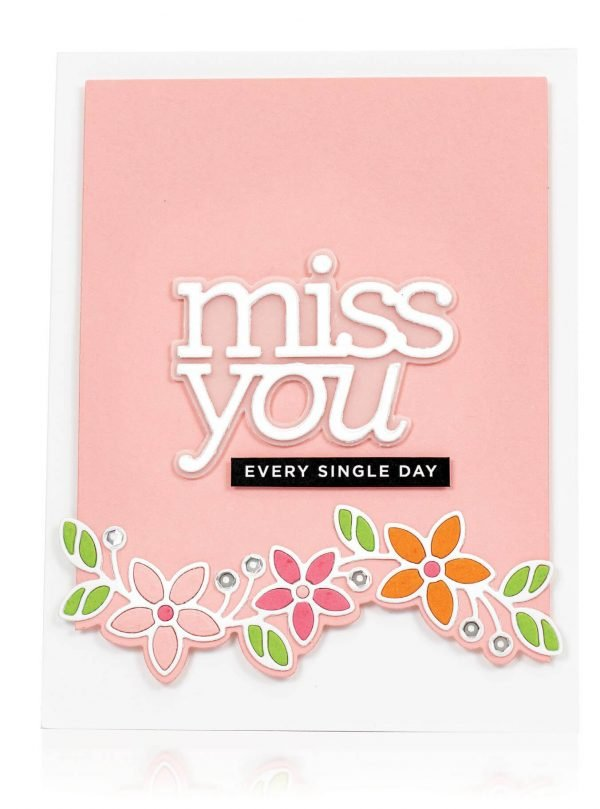 Scrapbook & Cards Today - Spring 2020 - Miss You card by Cathy Zielske